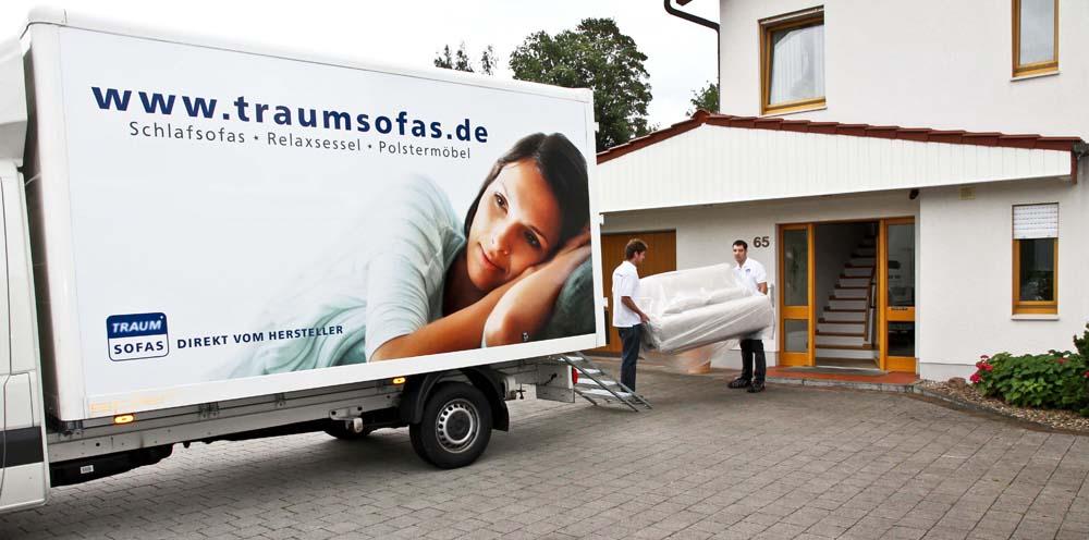 Das neue traumsofas servicemobil ist ab jetzt f r euch for Www traumsofas de