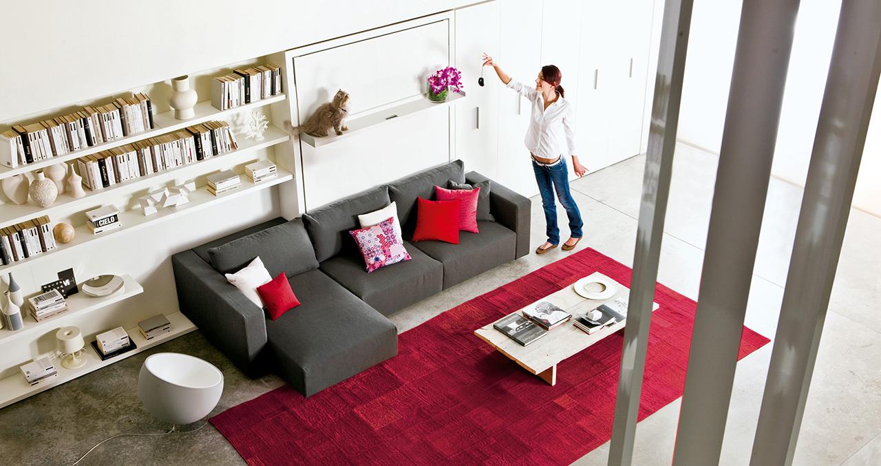 wohnen auf kleinem raum individuelle raumplanung. Black Bedroom Furniture Sets. Home Design Ideas