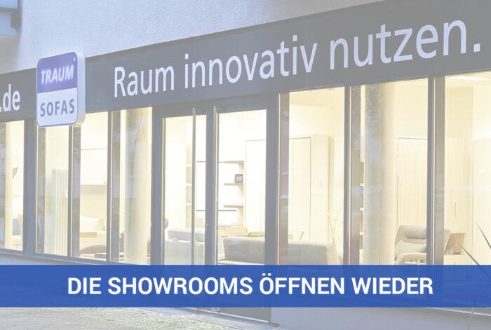 TRAUMSOFAS Showrooms öffnen wieder