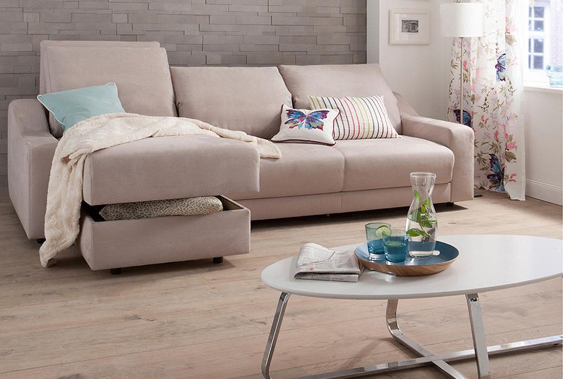 Traumsofas Bettecke Cozy im Wohnzimmer