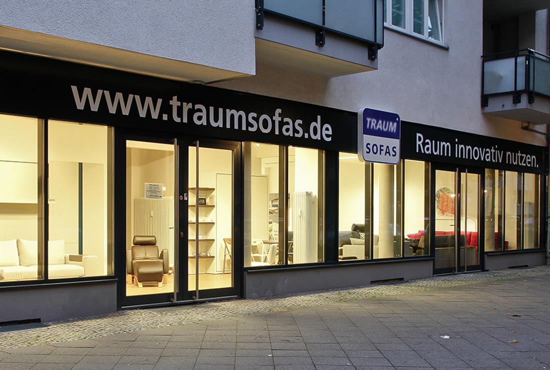 Traumsofas Showroom Berlin Außenansicht