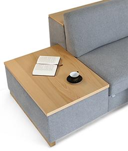Seiten Bed Box Ablage Buche