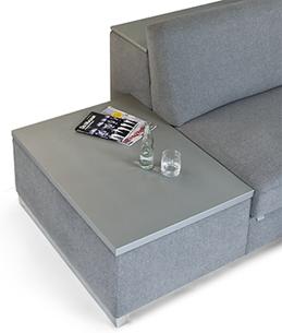 Seiten Bed Box Ablage Silber