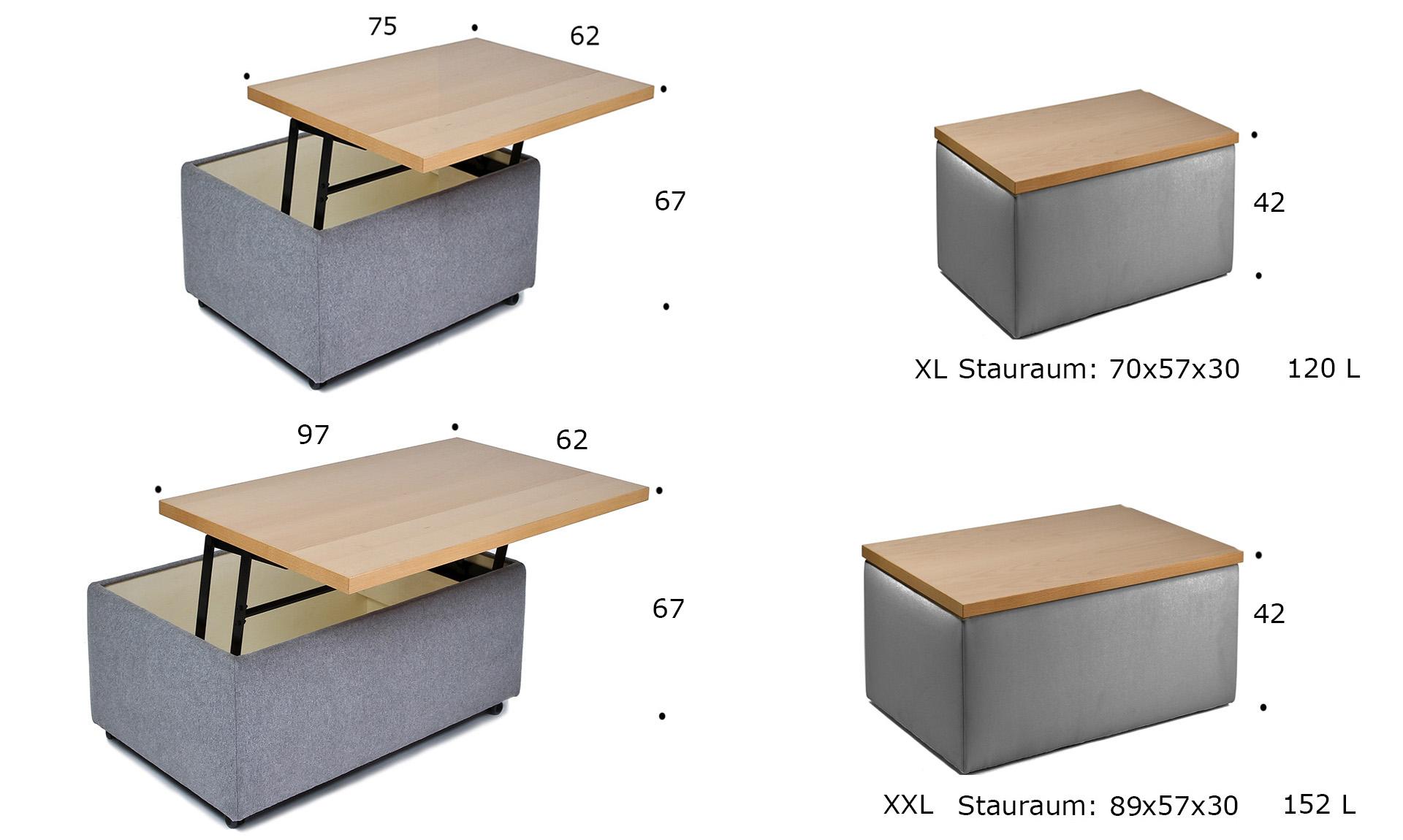 hockertisch mit kleinen rollen direkt beim hersteller kaufen. Black Bedroom Furniture Sets. Home Design Ideas