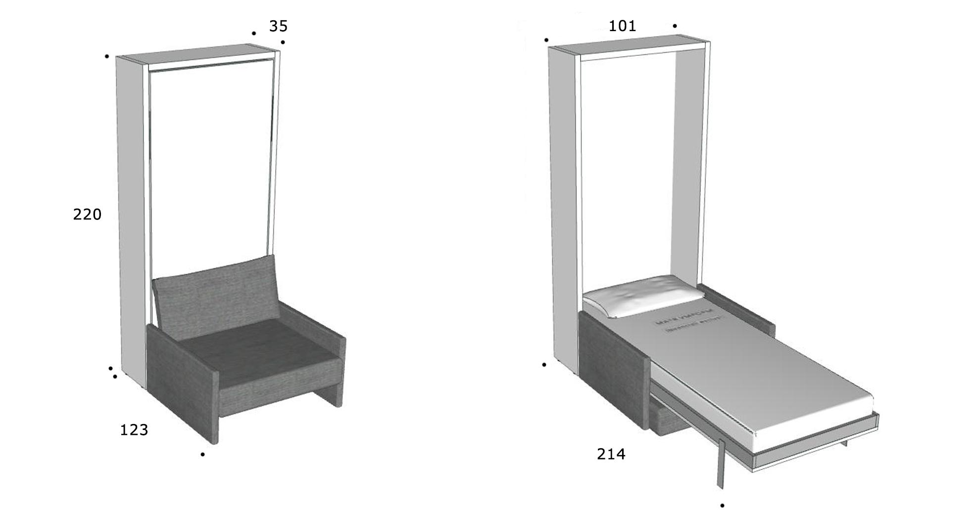 schrankbett altea 90 direkt beim hersteller kaufen. Black Bedroom Furniture Sets. Home Design Ideas