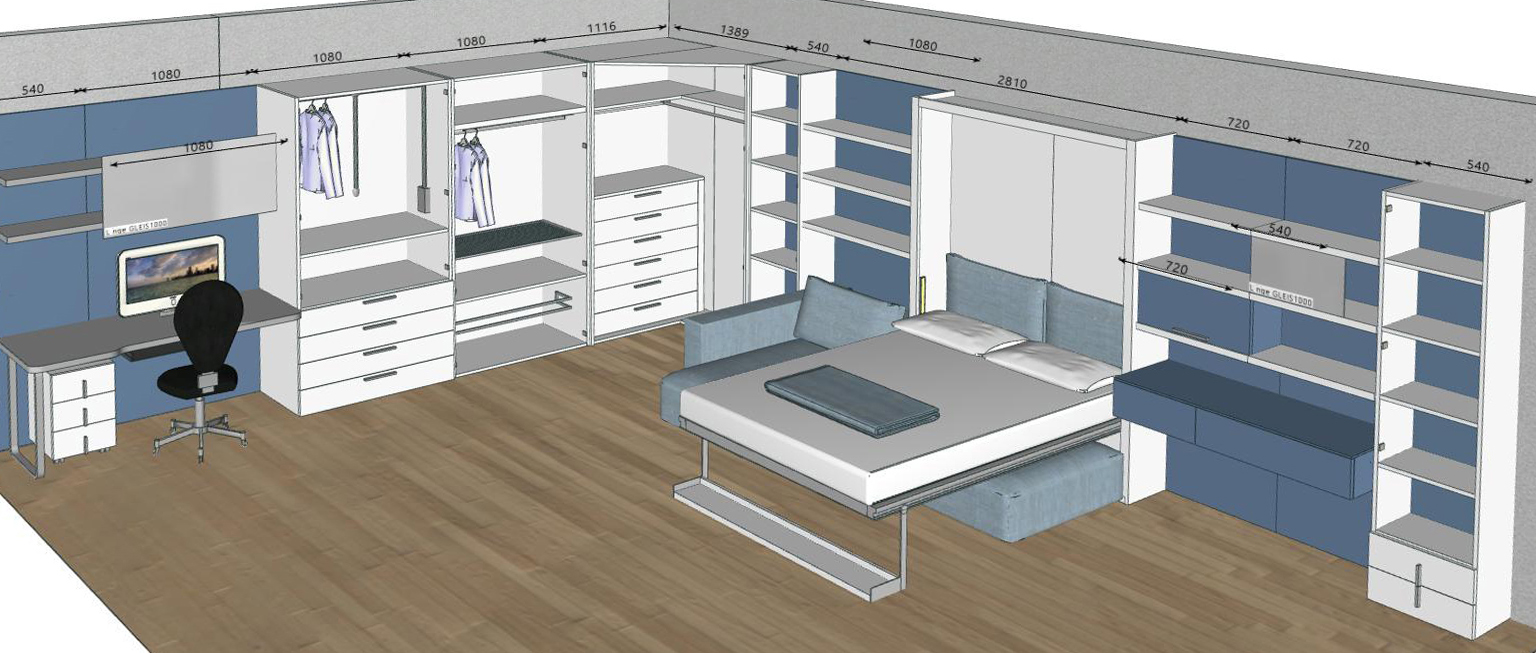 schrankbett kali 120 direkt beim hersteller kaufen. Black Bedroom Furniture Sets. Home Design Ideas