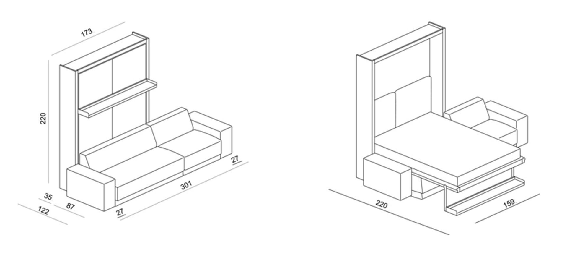 schrankbett oslo 301 direkt beim hersteller kaufen. Black Bedroom Furniture Sets. Home Design Ideas