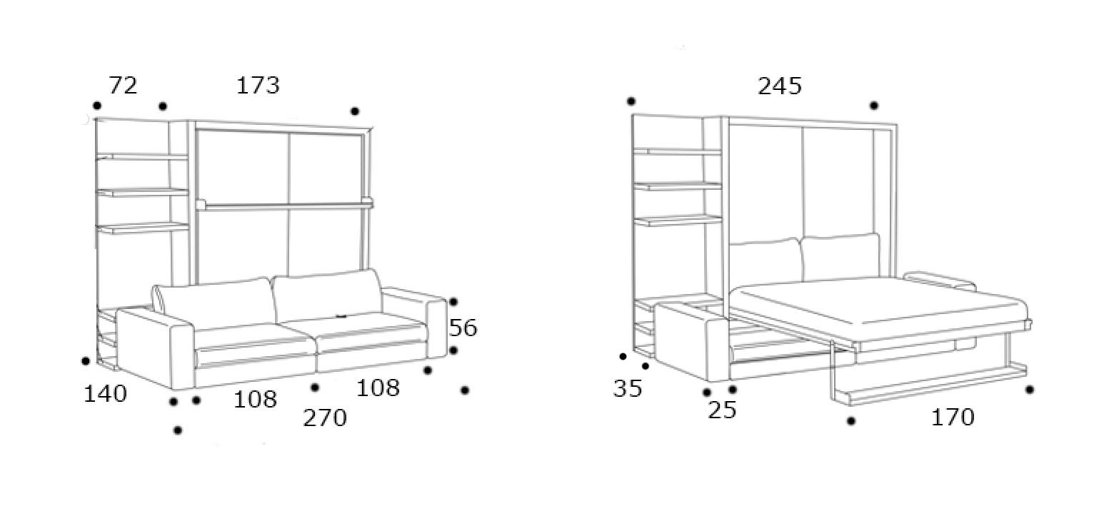 schrankbett tango 270 direkt beim hersteller kaufen. Black Bedroom Furniture Sets. Home Design Ideas