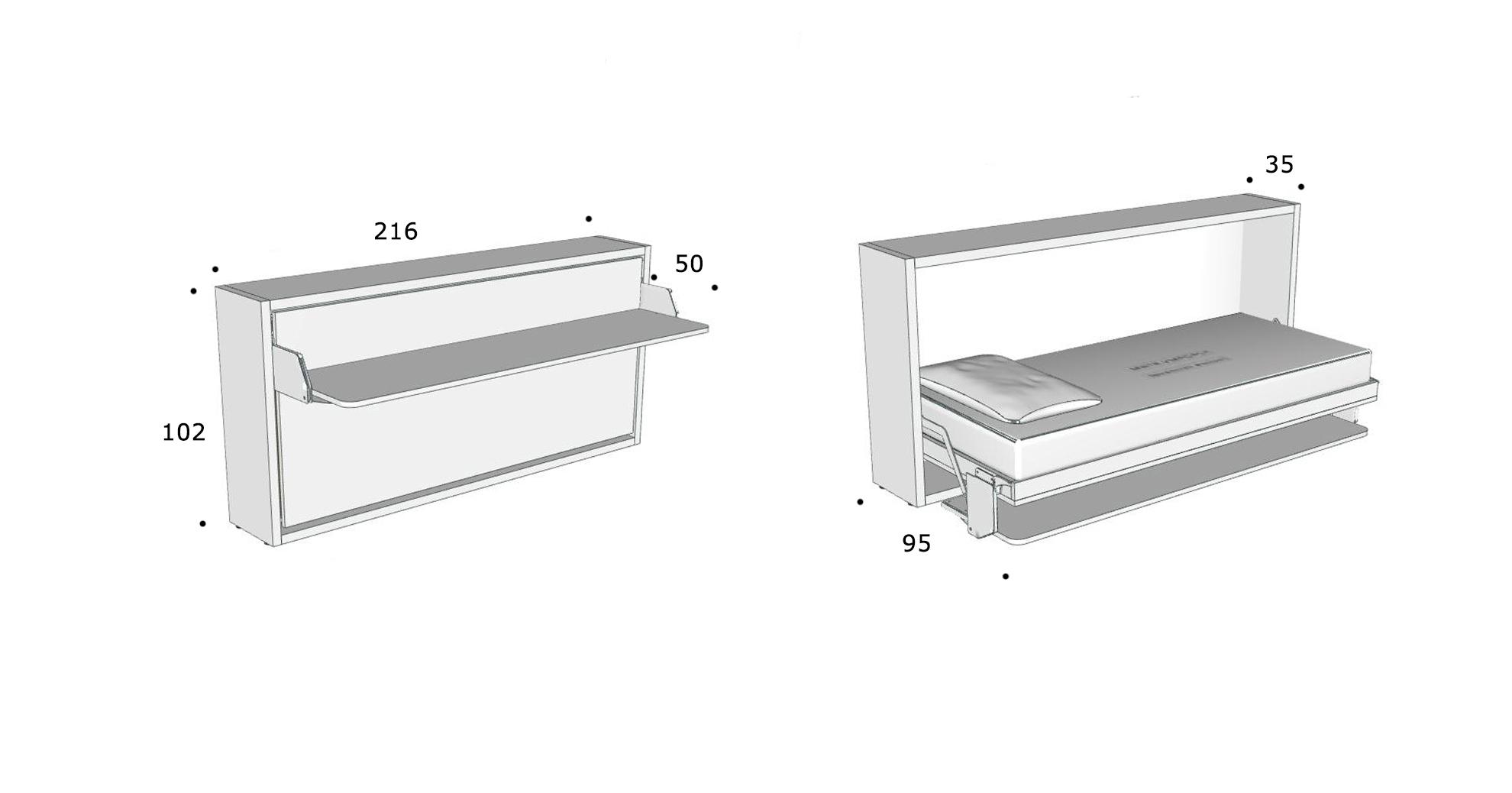 schrankbett kali 90 board direkt beim hersteller kaufen. Black Bedroom Furniture Sets. Home Design Ideas
